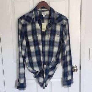 Lucky brand plaid blouse   New!